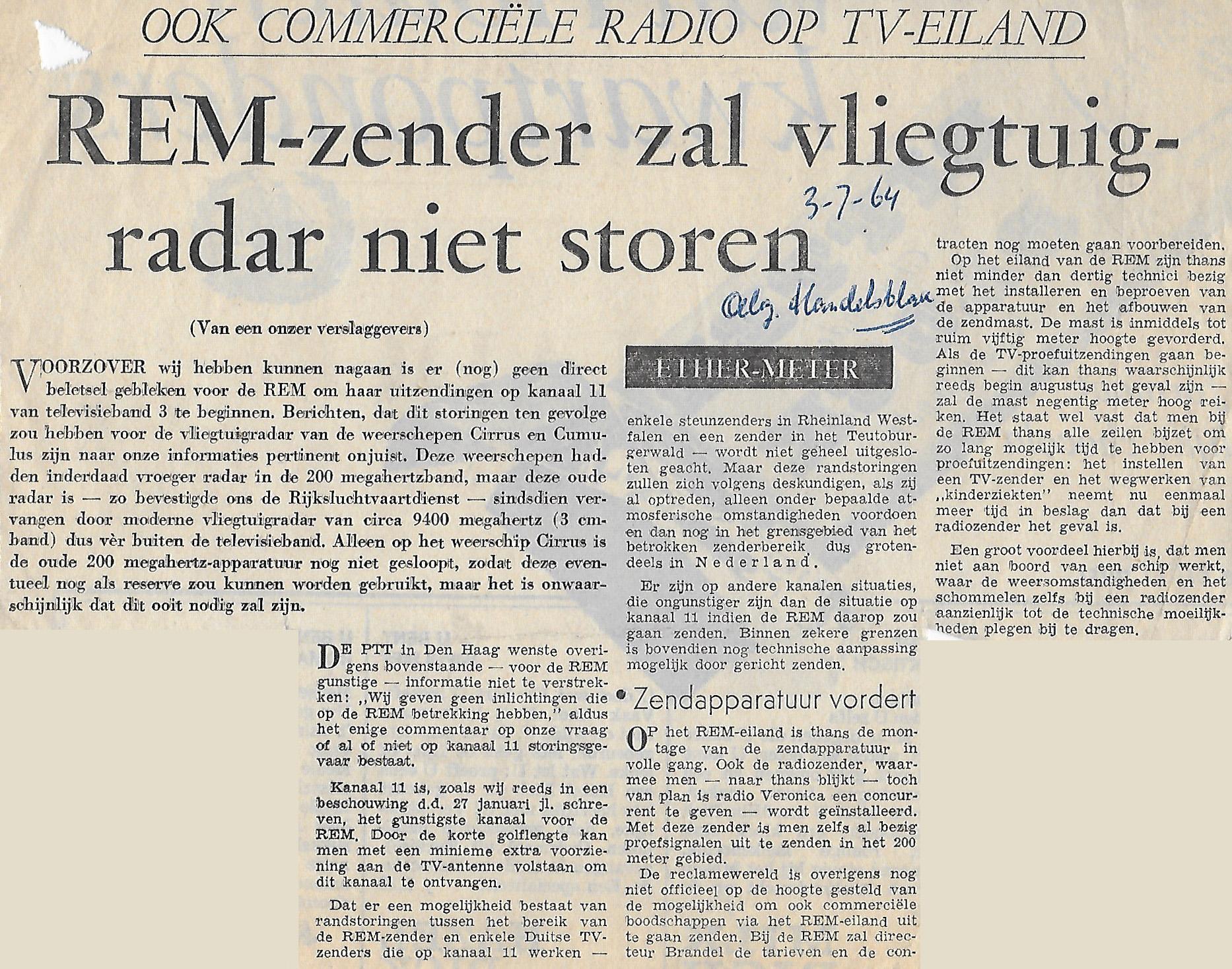 19640703 AH REM zender zal vliegtuiradar niet storen.jpg