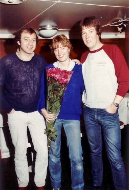 Andy Archer,Marjo Marcus,Peter Clark, Caroline 1983.jpg