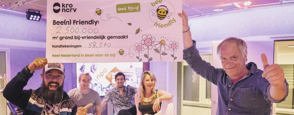 KRO-NCRV maakt 2.500.000 m2 grond bij-vriendelijk met Bee Friendly campagne