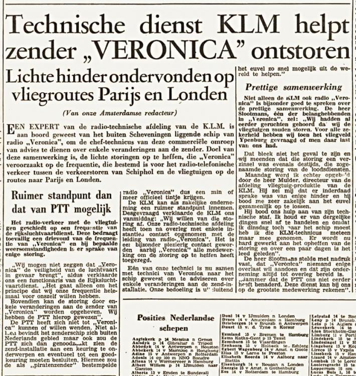 Veronica 1960-06-16 Technische dienst helpt Veronica ontstoren (Arnhemsche courant) .jpg