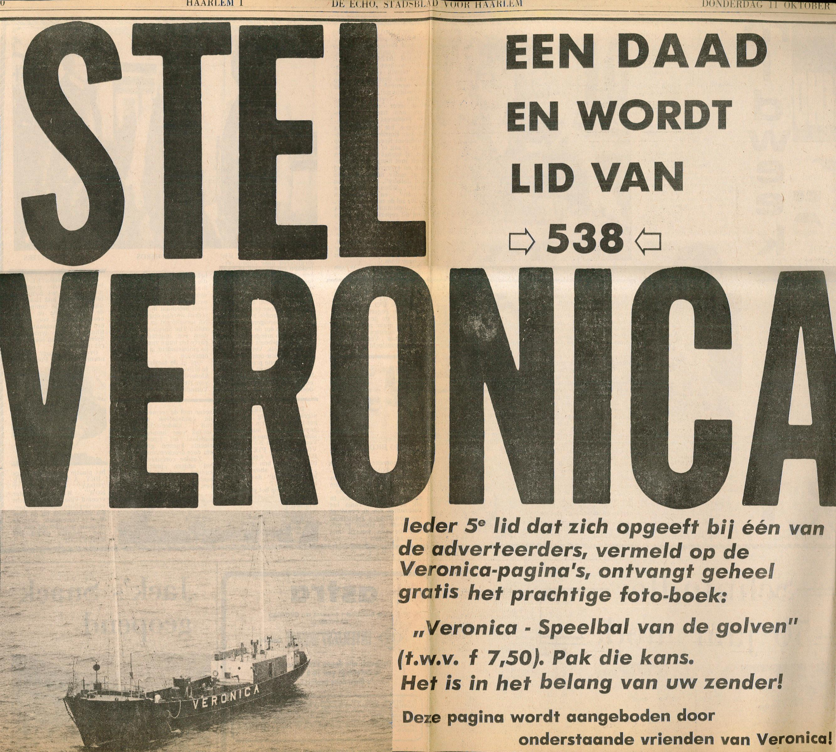 19731011 Stadblad Haarlem Stel een daad en wordt lid van 538 veronica.jpg