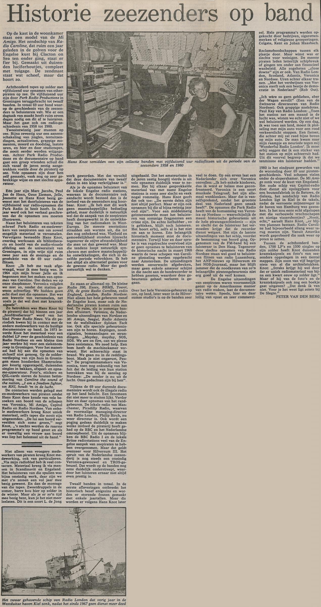 19810704 VK Historie zeezender op band Hans Knot.jpg