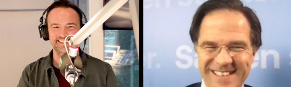 Mark Rutte opent stembus 80's Top 810 op Radio 10