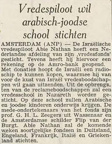 19660920 PZC Vredespiloot wil arabisch-joodse school stichten.jpg