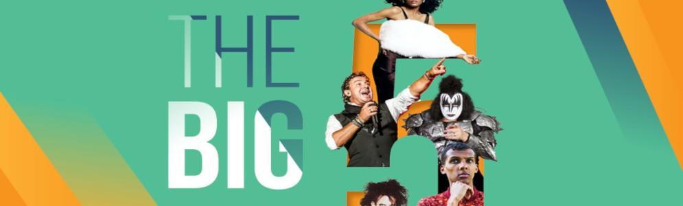 The Big 5 zijn 5 dagen, 5 genres met 5 ultieme toplijsten op Nostalgie