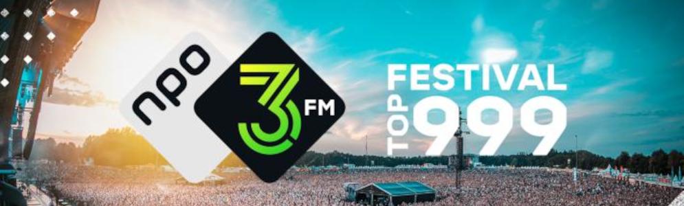 Nederlandse artiesten prominent in top 10 van 3FM Festival Top 999