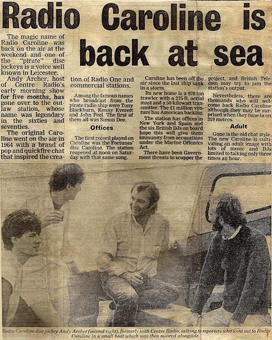 19830822 Leicester Mercury Radio Caroline is back at sea.jpg