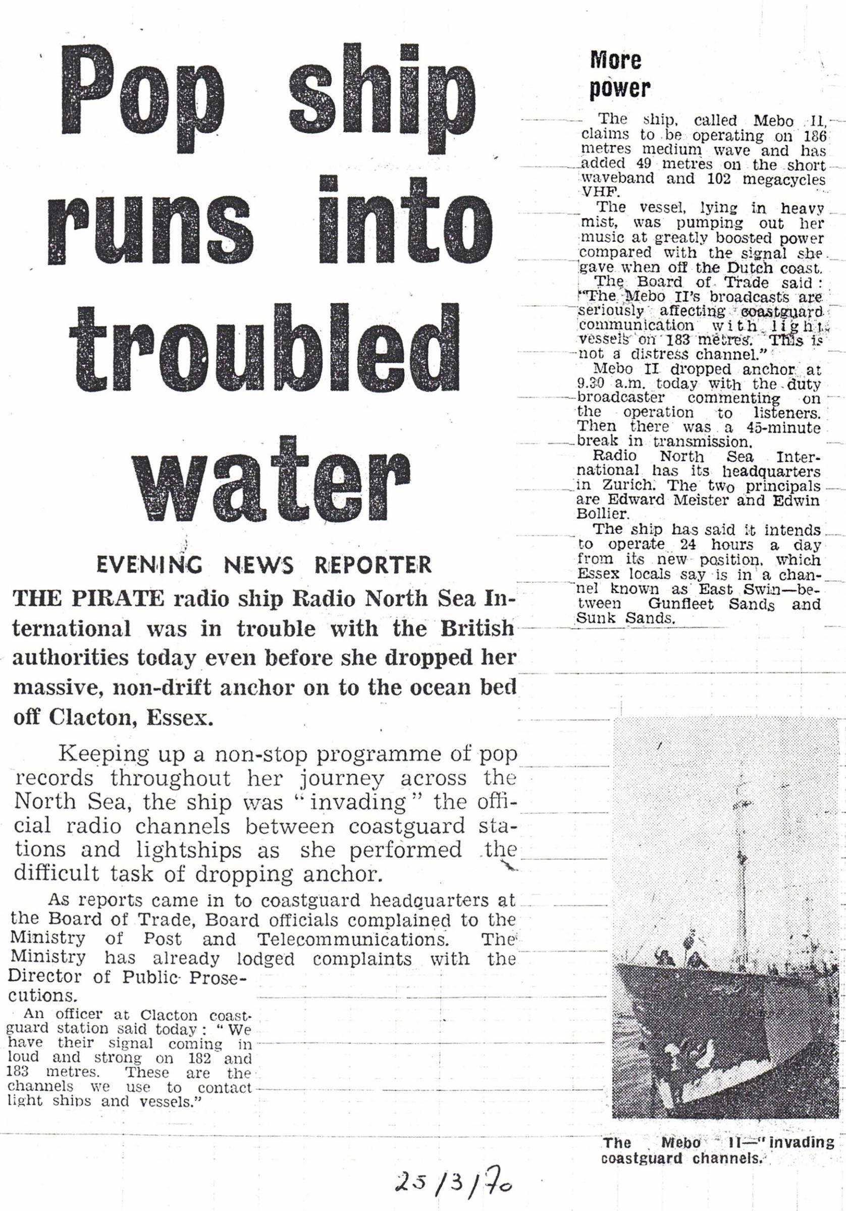 19700325 Evening News Pop ship runs into troubled water 01.jpg